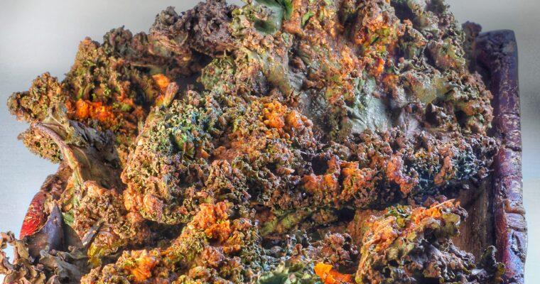 Kale Pizza Chips – Pizza Chips di Cavolo Verde Riccio