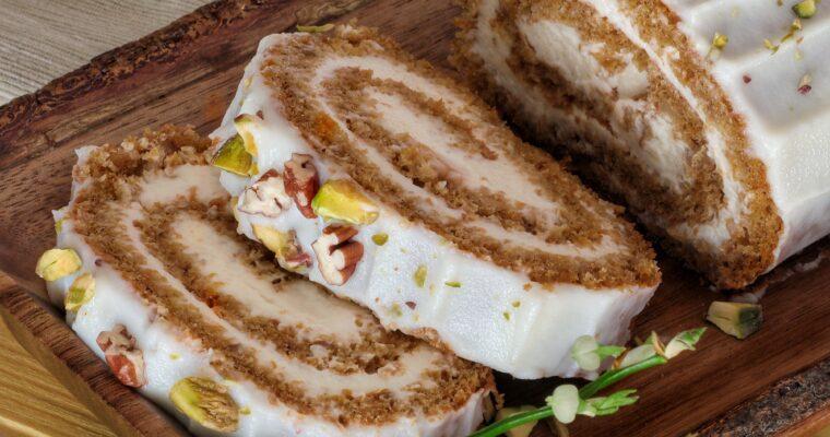 Rotolo Carrot cake con crema di formaggio spalmabile e Skyr🐰🥕